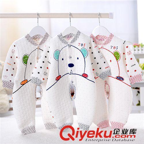 2014新款秋季保暖连身衣 纯棉婴儿连体衣 时尚新生儿哈衣批发