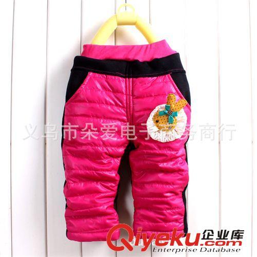 2013冬新款 婴幼儿 小兔子 亮面加棉棉裤  加厚裤子 童裤批发