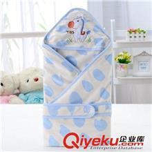 汤博士0802卡通水晶绒婴儿抱被 抱毯 新生儿包被 超柔软宝宝抱被