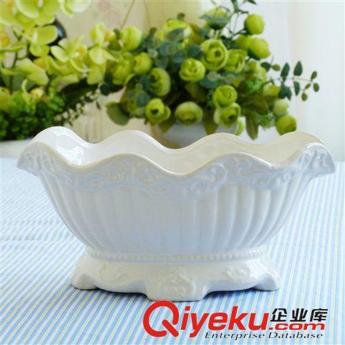 生产批发简约现代白色欧式船型陶瓷花盆瓶器插家居