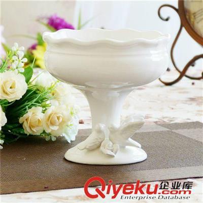 陶瓷花瓶花盆 生产批发供应白色欧式陶瓷花瓶奖杯高脚杯花瓶花器 插花