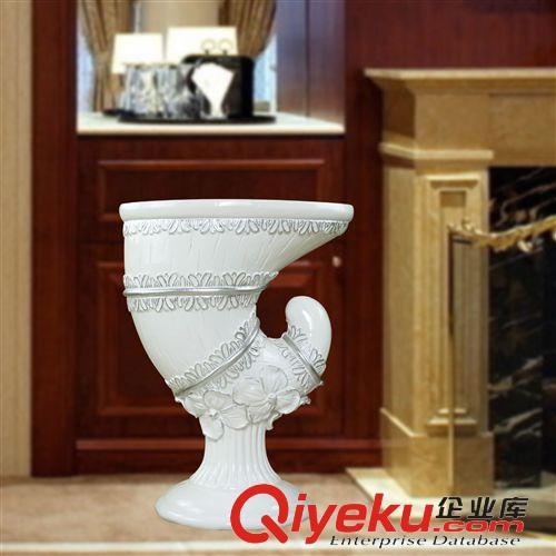 树脂氧化镁落地大花瓶 家居批发欧式简约白色落地陶瓷大花瓶器插酒店