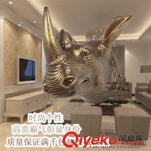 动物头工艺品创意家居仿真酒吧ktv犀牛壁挂墙面装饰