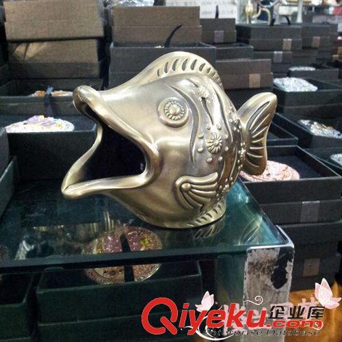 巴基斯坦动物 进口鱼形烟灰缸巴基斯坦铜器铜烟灰缸铜