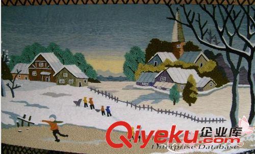 新疆手工挂毯 手工挂毯 田园 风景 挂毯壁毯客厅 挂毯