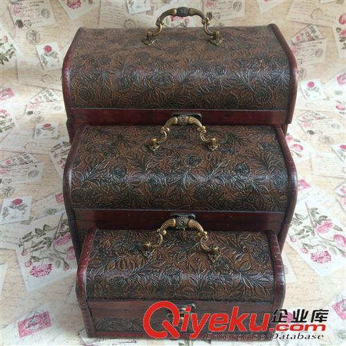 百宝盒xl加大(必备款) 仿古老式木箱 欧式复古 木质首饰箱 婚纱儿童