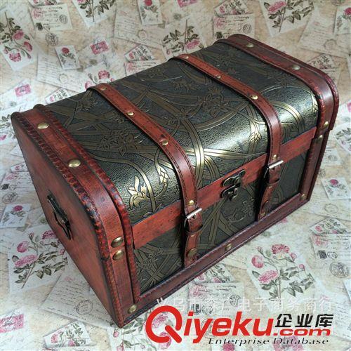 欧式百宝箱 复古木箱 做旧木箱子 橱窗道具茶几箱 箱子批发来样定制