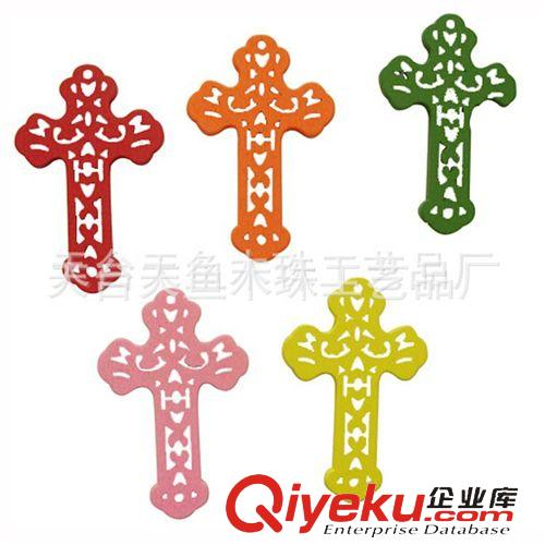定做原木色镂空宗教十字架