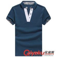 2014夏季T恤订做款 2014新款短袖 男士夏装韩版纯色短袖POLO衫3071