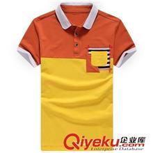 2014夏季T恤订做款 2014新款男POLO衫夏装韩版拼接男士短袖T恤 3061
