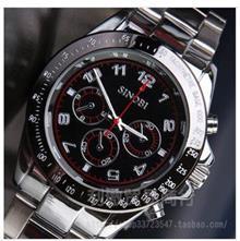 石英表 时诺比9266 三眼设计运动表时尚石英表潮流复古男士手表防水男表