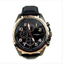 石英表 时诺比9413极度帅气大表头黑色立体超酷男士手表时装复古男表批发