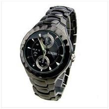 石英表 **时诺比男士手表黑色质感夜光商务男表男款复古表时装表3595
