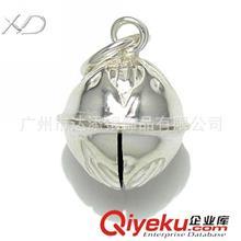 纯银铃铛 XD HG022 纯银铃铛配件 铃铛吊坠纯银 手链银配饰 纯925银铃铛