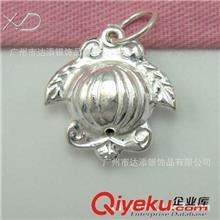 纯银铃铛 XD HE014 纯银长凤梨铃铛配件 925纯银DIY配件 做工精细 厂家批发
