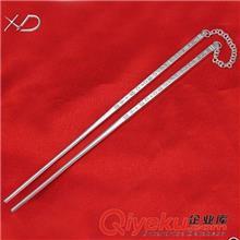 足银餐具 XD 千足银餐具 990纯银筷子 实心纯银筷子 工厂批发 提高生活品质
