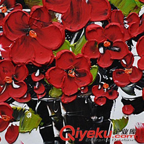 花卉风格油画 抽象艺术发财树主题酒店家庭装饰油画 纯手工高品质丙烯