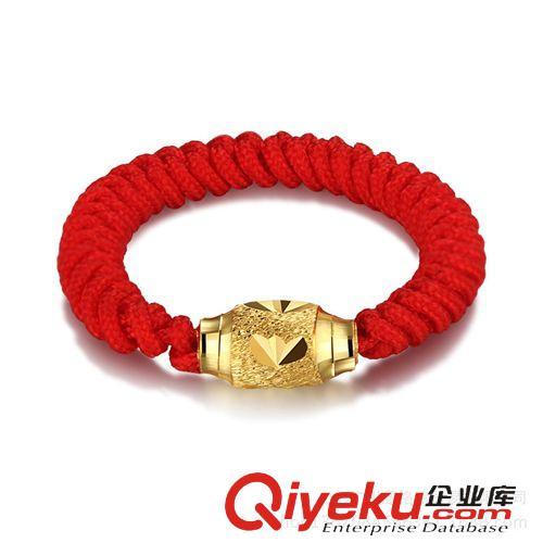 商品用途 厂家直销 本命年转运红绳编织戒指 镀金情侣