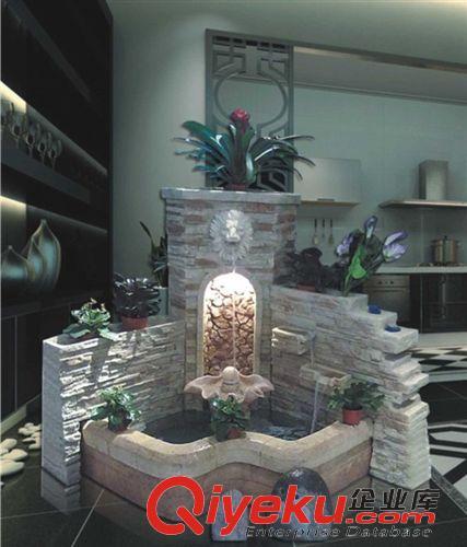 欧式 砂岩狮子头装饰品摆设大型高档欧式喷泉流水