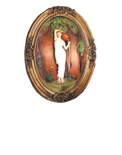 欧式 欧式壁画墙壁挂件墙壁装饰挂饰拿破仑太阳花鹰读书少女壁画挂画