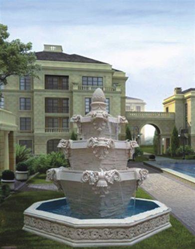 欧式 欧式砂岩大型喷泉流水水景摆设件酒店大厅品