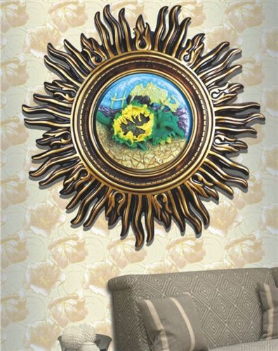 欧式 欧式壁画墙壁挂件装饰挂饰太阳花壁画挂画工艺摆件树脂工艺品