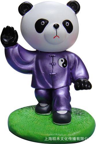 京剧人物脸谱 批发太极熊猫摆件 中国特色工艺品 可送外国友人