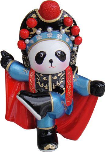 京剧人物脸谱 批发变脸熊猫公仔摆件 中国特色工艺品 可送外国友人