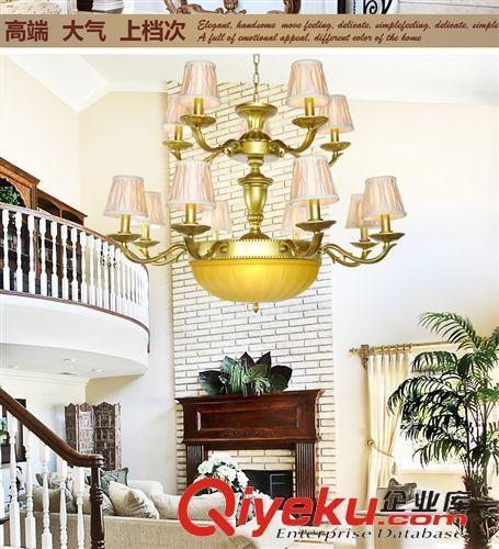 欧式吊灯 酒店大堂欧式简约土吊灯美式创意展厅吊灯图片