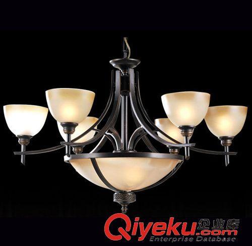 现货树脂系列 新古典6头吊灯 美式家居软装客厅餐桌卧室灯 豪华酒楼