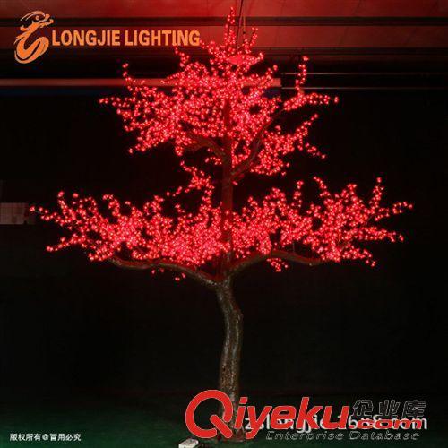 红色仿真树樱花树