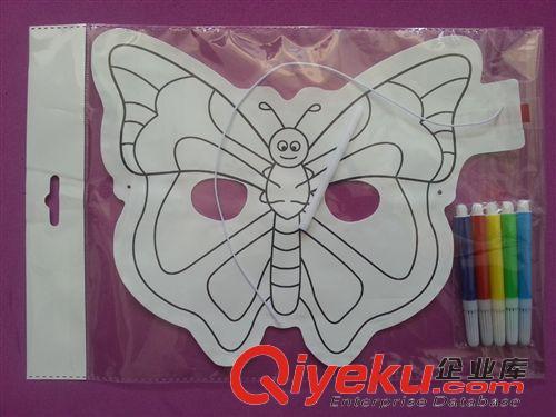 儿童蝴蝶面具手绘图片