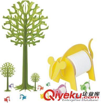 彩色diy木制动物纸巾架 diy手工 12生肖-米奇鼠 木制纸巾筒 纸巾盒 za