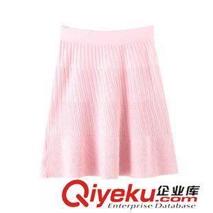◆半身裙 2015秋季新款小清新立体纹路针织半身裙短裙 女裙 J28175