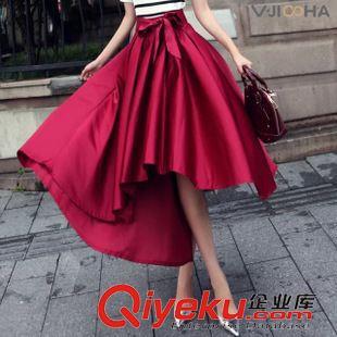 半裙 欧洲站新款创意女裙半身裙高档时尚精品腰带不规则大摆半裙M728