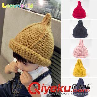 8月秋冬儿童帽新款 秋冬儿童帽子宝宝麻花卷边奶嘴帽针织帽 儿童豆丁