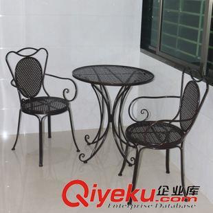 茶几 欧式铁艺阳台卧室酒店庭院客厅休闲茶几小圆咖啡桌椅三件套组合