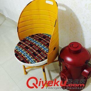 创意loft复古软垫铁艺手工棕红色油桶