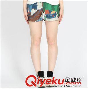 -----》短裤 N187 塔卡沙原宿创意旅行系列数码印花短裤女裤子夏季2015新款