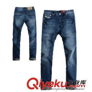 休闲裤 春装新品百搭牛仔裤 D*S*L时尚水洗磨白 舒适休闲修身牛仔裤 长裤