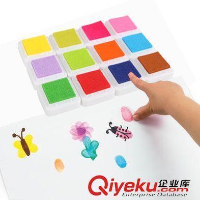其它手工素材 正方形彩色印台印章泥幼儿园儿童手指画
