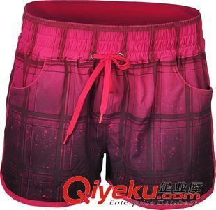 沙滩裤 [威玛斯]女式沙滩裤 女士休闲裤 女装运动短裤 格子沙滩裤批发