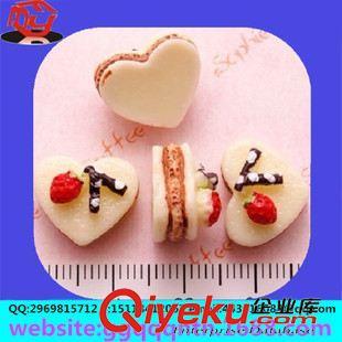 树脂心形 厂家生产 diy新款饰品配件 树脂桃心形蛋糕儿童发饰配件