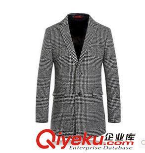 【风衣 大衣 男士高档呢子大衣 西装款中长呢大-大衣款中长男 大衣款 图片