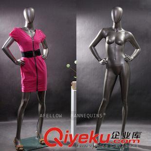 女模eva1-h5-1 182cm女性黑色全身模特 抽象站姿服装店时装模特道具