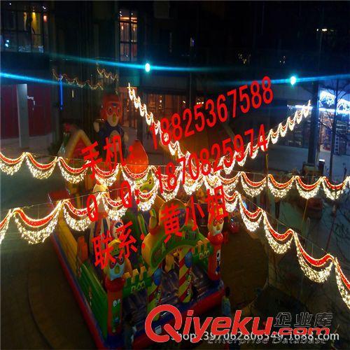 11月LED造型灯 圣诞节灯 凤翔LED路灯杆造型灯 户外挂件灯串 LED过街灯厂家 荷花装饰灯