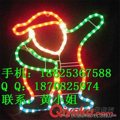 9月LED路灯杆造型灯|过街灯 打招呼动作LED圣诞老人 多动作圣诞节装饰灯