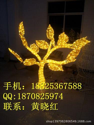 LED树灯 异型路灯杆 发财造型灯 白光6000珠LED过街灯