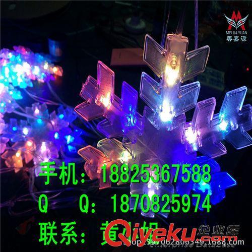 LED装饰灯系列 树上雪花灯串 街道树木亮化灯 10m100灯LED星星灯串 树木亮化