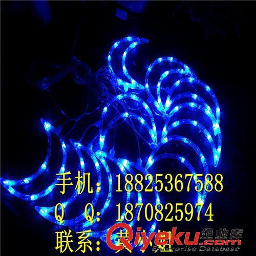 LED造型灯 23cm10灯LED月亮灯串 LED路灯杆造型灯 圣诞灯现货 路灯杆造型灯
